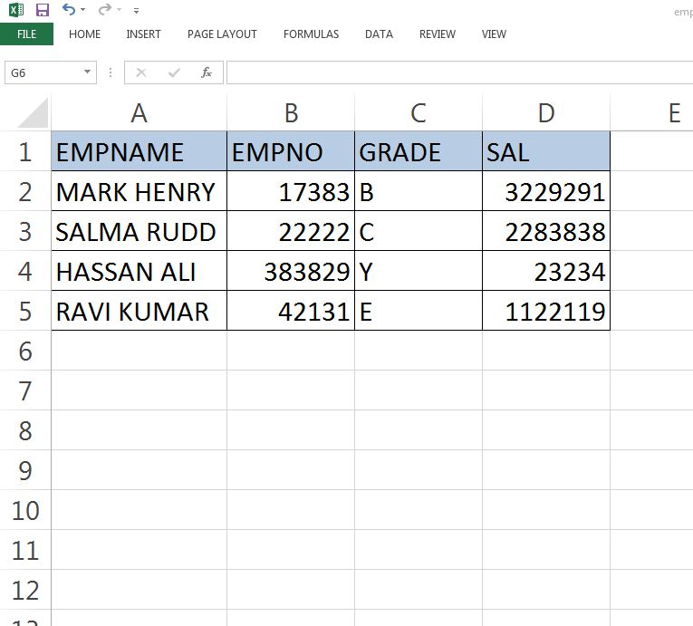 Load data from excel sheet to oracle table DBACLASS