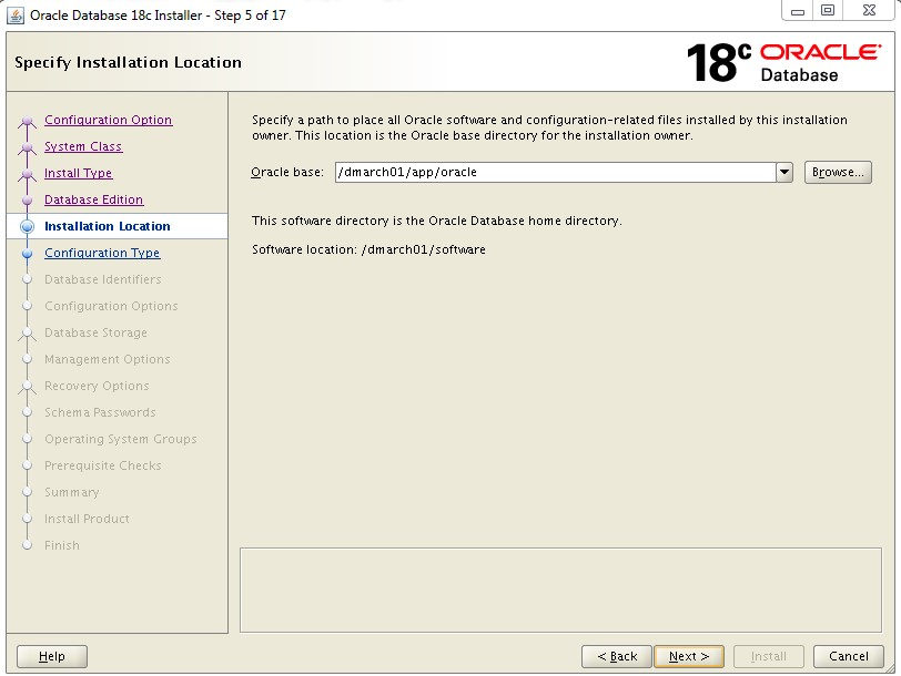 SETUP ORACLE 18C DATABASE - STEP BY STEP DBACLASS
