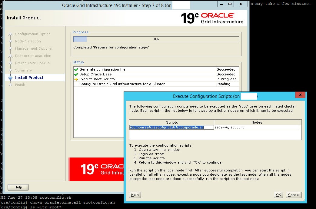Upgrade grid infrastructure to 19C oracle from oracle 12c